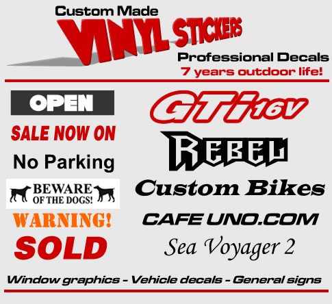 Vinyl Stickers For Signs